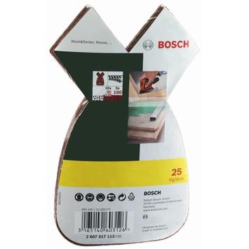 Bosch schuurpapierset 25 stuks