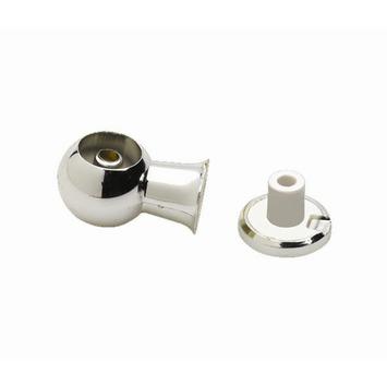 Support combi central pour tringle Intensions chromé ø13 mm 2 pièces