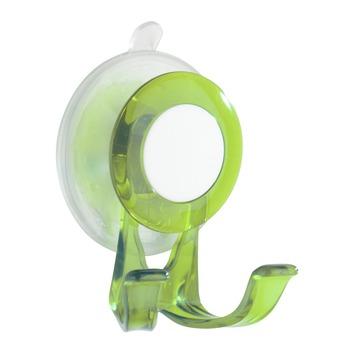 Wenko haak met zuignap groen