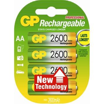 Pile rechargeable GP NiMH AA 2600mAh 4 pièces