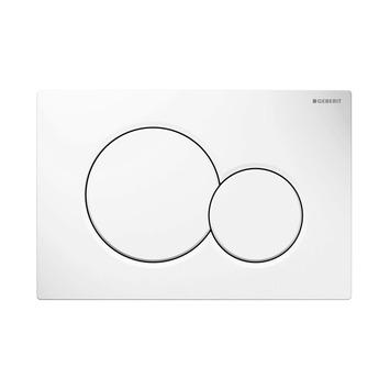 Plaque de commande Sigma 01 Geberit blanche pour réservoir encastré Systemfix