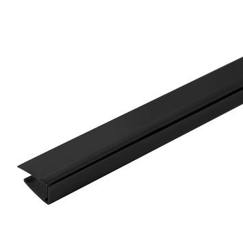 Grosfillex start-/eindprofiel 5/8 mm zwart 260 cm