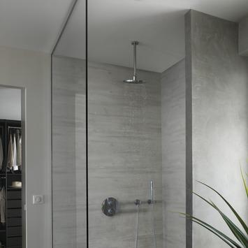 Grosfillex paneel Attitude PVC rabote grijs 8 mm 2,7 m²