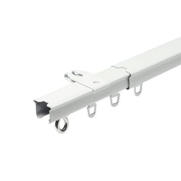 Intensions gordijnrail uitschuifbaar compleet wit 160-300 cm