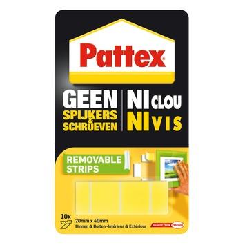 Pattex Geen Spijkers & Schroeven montagestrips verwijderbaar 10 st
