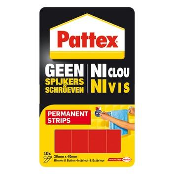 Pattex Geen Spijkers & Schroeven montagestrips permanent 12 st