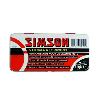 Jeu de réparation tubes vélo normal Simson noir/rouge