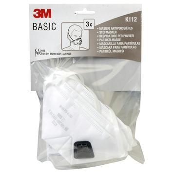 3M Basic stofmasker uitademventiel FFP2 3 stuks