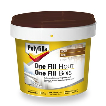 One fill bois Polyfilla blanc 500 ml