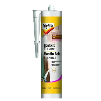 Mastic bois flexible Polyfilla naturel 300 ml