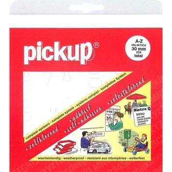 Jeu de lettres adhésives Pickup 30 mm blanc