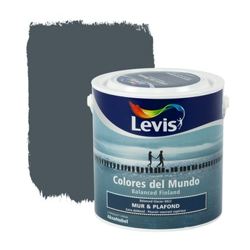peinture mur plafond colores del mundo levis mat balanced glacier 2 5 l colles primers pour. Black Bedroom Furniture Sets. Home Design Ideas