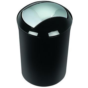 Spirella Sidney afvalemmer zwart 5 liter