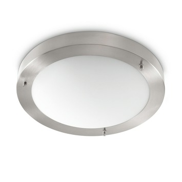 Philips myBathroom Salts plafonnier incl. spaarlamp E27 20 W 1320 lumen inox