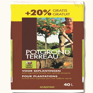 Agrofino terreau pour plantations 40 l terreau engrais for Au jardin welkom