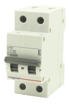 Disjoncteur modulaire Legrand 2 pôles 10 A