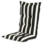 Coussin d'assise Hartman ligné gris/blanc