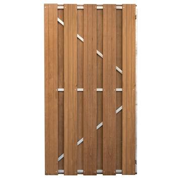 Porte de jardin  bois dur droit sur frame
