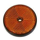 Reflector rond oranje 70 mm 2 stuks