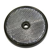 Réflecteur rond blanc 70 mm 2 pièces