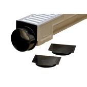 Embout PVC pour caniveau 100x11 cm