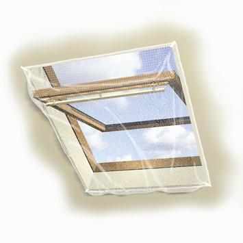 Toile moustiquaire avec clips Fikszo 100x120 cm blanc