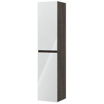Bruynzeel Monta kolomkast 160cm 2 deuren hoogglans wit/wengé