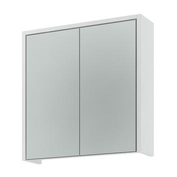 Armoire à miroir Arte 63x63x18 cm 2 portes blanc brillant