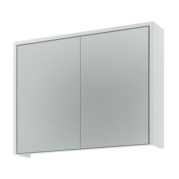 Armoire à miroir Arte 63x83x18 cm 2 portes blanc brillant