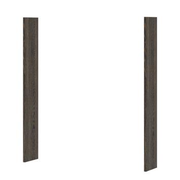 Panneau pour armoire à miroir Optima Bruynzeel 65x2x12 cm wengé 2 pièces
