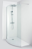 Allibert Wings walk-in douche links 125x210cm inclusief douchebak