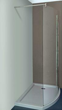 Allibert Wings walk-in douche rechts 125x210cm inclusief douchebak