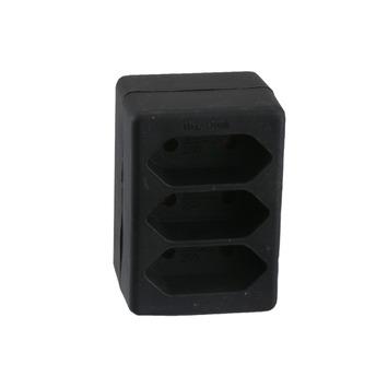Exin dominostekker 3-delig 2,5 A zwart