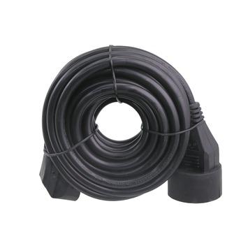 Exin verlengsnoer zwart 3x1,5mm² - lengte 5 m