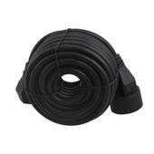 Exin verlengsnoer zwart 3x1,5mm² - lengte 10 m