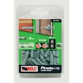 Molly plug universeel nylon 6x30 mm m27650-xj 50 stuks