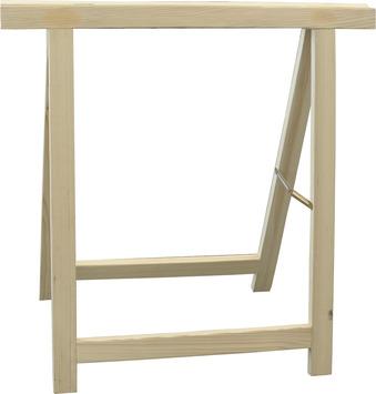 Tréteau en bois solide 75x75 cm