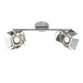 Brilliant Movie plafondlamp LED met 2 spots GU10 chroom 2x5 W