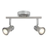 Brilliant Sanny plafondlamp LED met 2 spots GU10 mat chroom 2x5 W