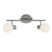 Brilliant Philo plafondlamp LED met 2 spots E14 chroom 2x3 W
