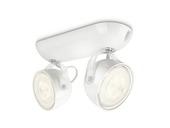 Support 2 spots Dyna Philips LED intégré 3W blanc