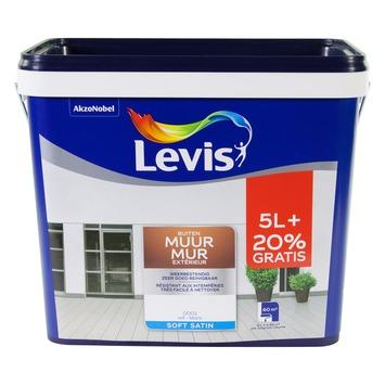 Peinture Mur Extérieur Levis satin blanc 5+1 L