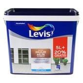 Levis Muur Buiten muurverf zijdeglans wit 5+1 L