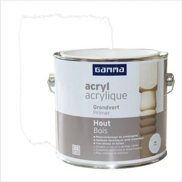GAMMA primer hout watergedragen wit 2,5 L