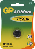 Pile bouton GP lithium CR2032 3 V