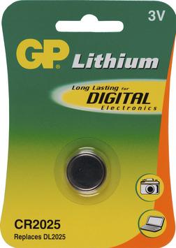 Pile bouton GP CR2025 Lithium 3V 1 pièce