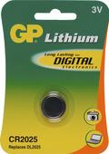 GP Lithium knoopcelbatterij CR2025 3 V