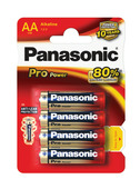 Panasonic Pro Power alkaline batterijen AA 4 stuks