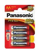 Panasonic Pro Power alkaline AA-batterijen 4 st