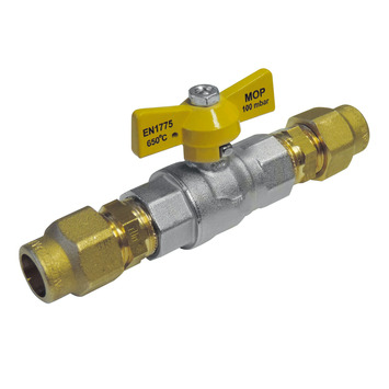 Van Marcke gasbolkraan voor aardgas en LPG 15 mm